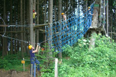 Stag do high ropes