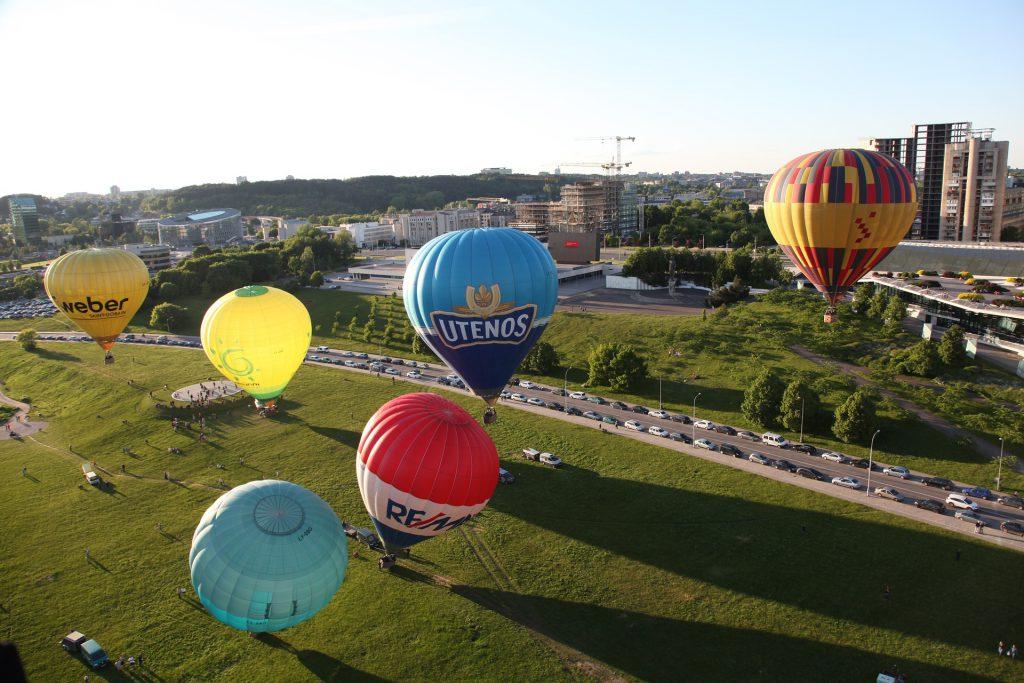 Hot air balloon flight in Vilnius
