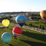 Hot air balloon flight in Vilnius