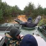 Tank driving in Vilnius