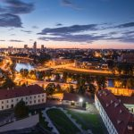 Vilnius at night
