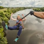 Bungee jumping in Lithuania.